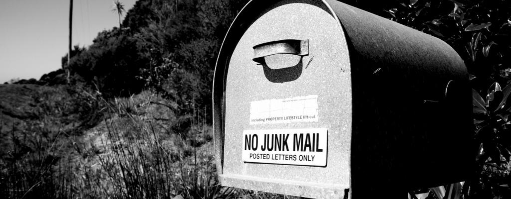No junk mail mailbox