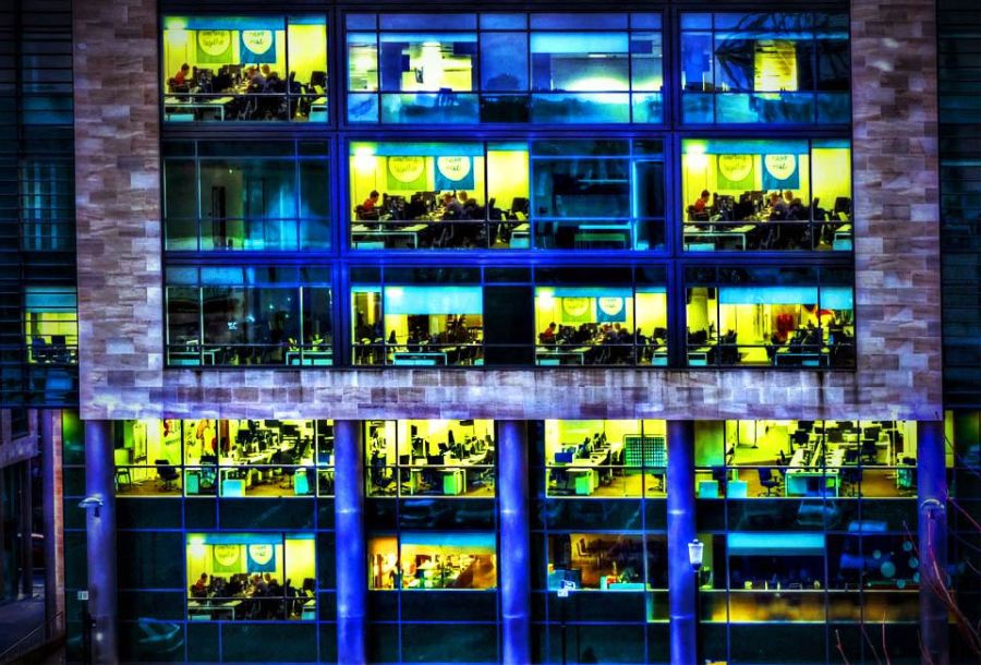 The design of office buildings affects employee productivity
