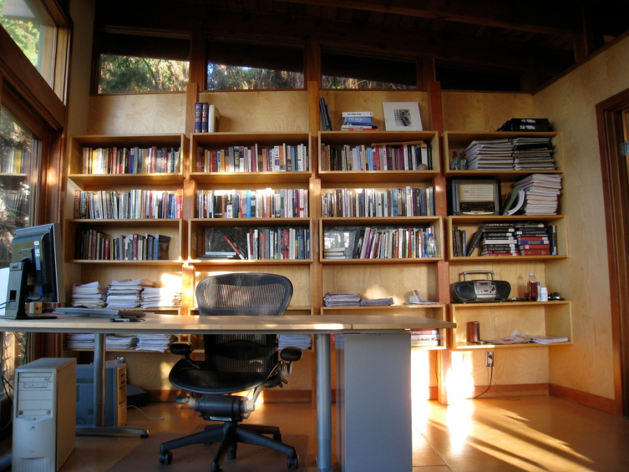 Private office with natural light