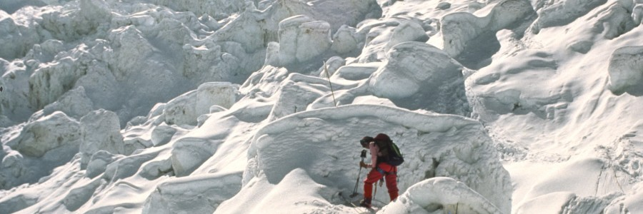 Khumbu Icefall - Image by Brigitte Djajasasmita, CC.
